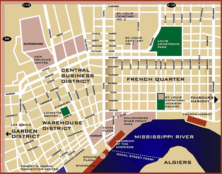 New Orleans map.